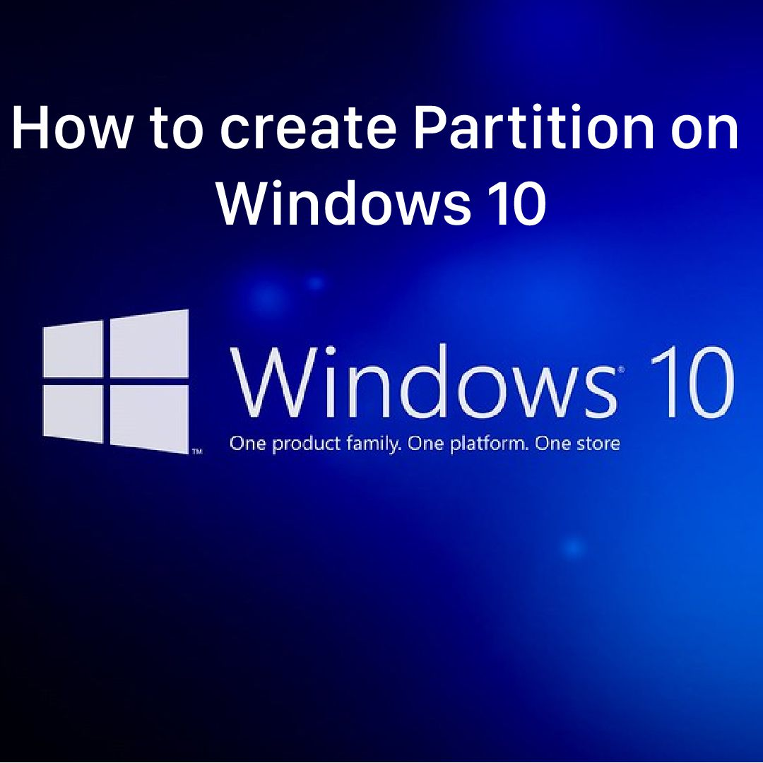 how to create partition on windows 10